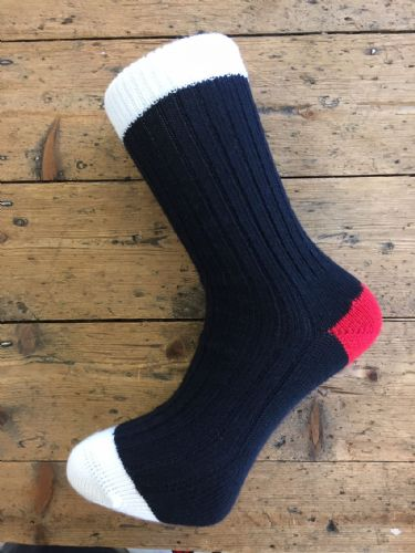 Men's Wool Socks - Black Red White - Limited Edition (Medium Only) - Machine Washable.